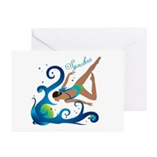 Synchronized swimming Greeting Cards (Pk of 20)