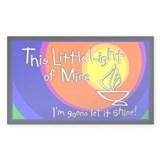 """This Little Light of Mine"" Rectangle Decal"
