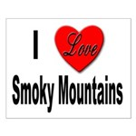I Love Smoky Mountains Small Poster