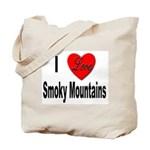 I Love Smoky Mountains Tote Bag