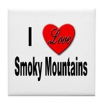 I Love Smoky Mountains Tile Coaster