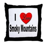 I Love Smoky Mountains Throw Pillow