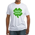 Feelin Lucky? Funny St. Patrick's Day Fitted T-Shi