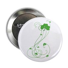 "Irish Shamrock Art 2.25"" Button"