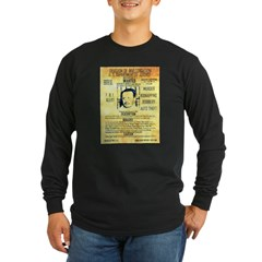 Wanted Doc Barker Long Sleeve Dark T-Shirt