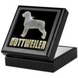 Bling Rottweiler Keepsake Box