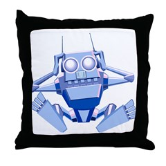 Confused Robot Throw Pillow