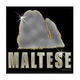 Bling Maltese Tile Coaster