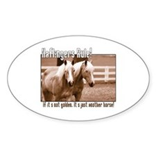 Haflinger Horse Oval Decal
