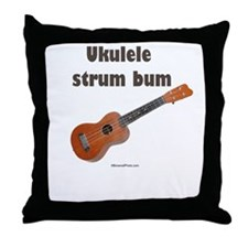 Ukulele strum bum Throw Pillow