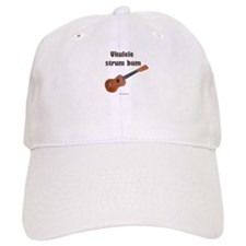 Ukulele strum bum Baseball Cap