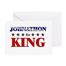 JOHNATHON for king Greeting Card