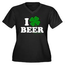Love BEER 7 Women's Plus Size V-Neck Dark T-Shirt