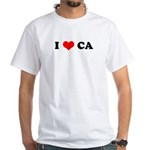 I Love CA White T-Shirt