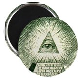 Pyramid Eye U.S. dollar logo Magnet