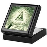 Pyramid Eye U.S. dollar logo Keepsake Box