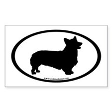 Welsh Corgi Oval Rectangle Decal