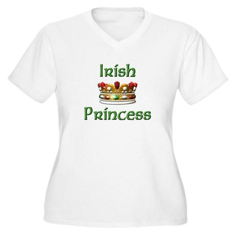 Irish Princess Women's Plus Size V-Neck T-Shirt