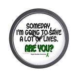 Someday I Will Save Lives 1 Wall Clock
