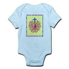 Blue Green Mary Infant Bodysuit