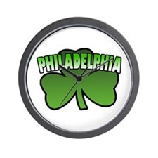 Philadelphia Shamrock Wall Clock