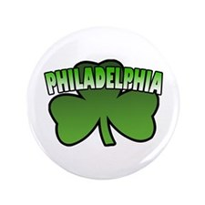 "Philadelphia Shamrock 3.5"" Button"