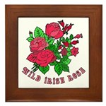 Wild Irish Rose Framed Tile