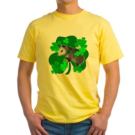 Lucky Irish Possum Yellow T-Shirt