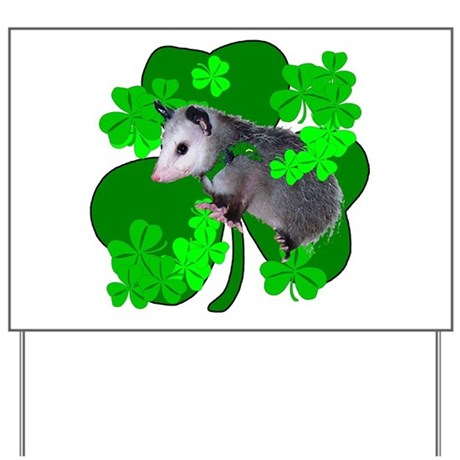 Lucky Irish Possum Yard Sign