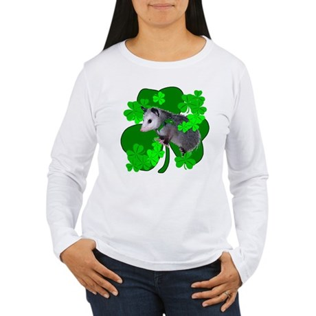 Lucky Irish Possum Women's Long Sleeve T-Shirt
