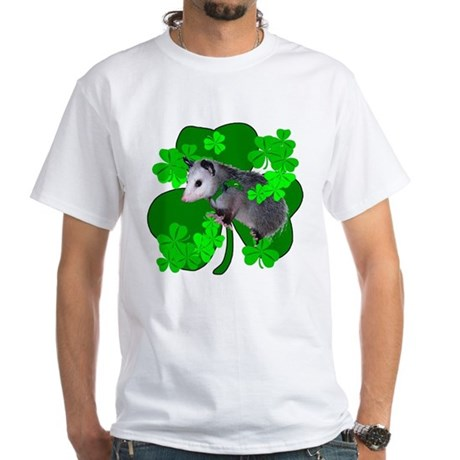 Lucky Irish Possum White T-Shirt