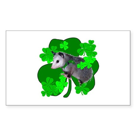 Lucky Irish Possum Rectangle Sticker