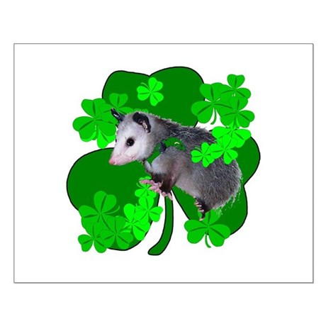 Lucky Irish Possum Small Poster