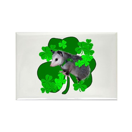 Lucky Irish Possum Rectangle Magnet