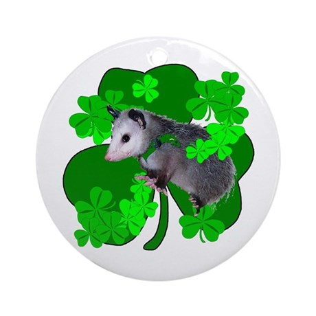 Lucky Irish Possum Ornament (Round)