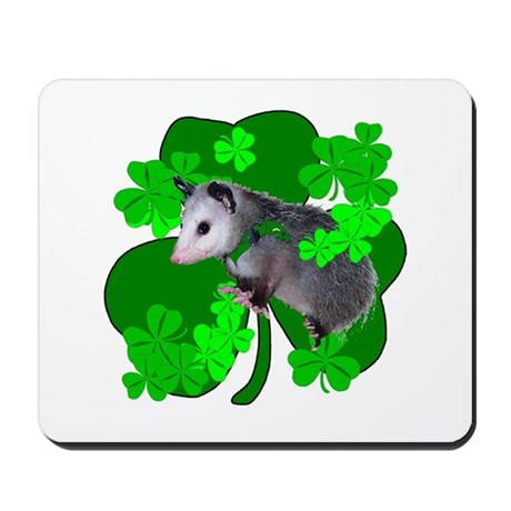 Lucky Irish Possum Mousepad