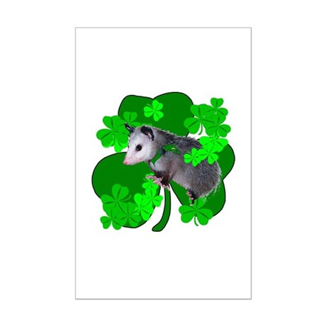 Lucky Irish Possum Mini Poster Print