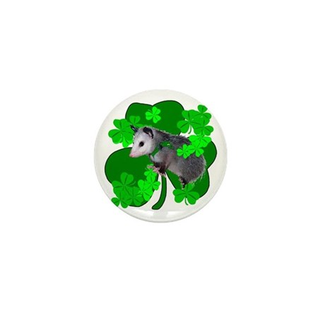 Lucky Irish Possum Mini Button (10 pack)