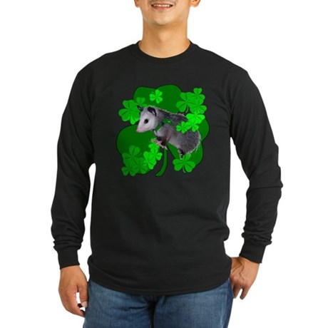 Lucky Irish Possum Long Sleeve Dark T-Shirt