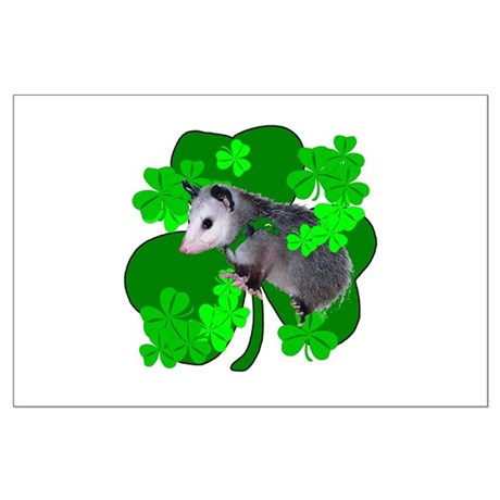 Lucky Irish Possum Large Poster