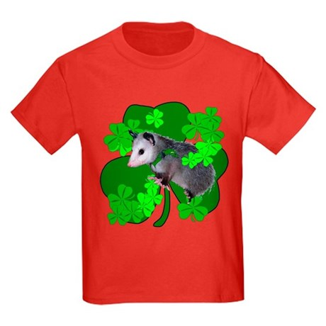 Lucky Irish Possum Kids Dark T-Shirt