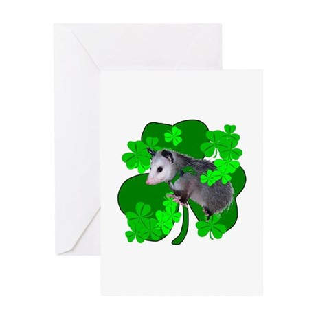 Lucky Irish Possum Greeting Card