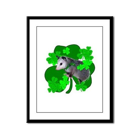 Lucky Irish Possum Framed Panel Print