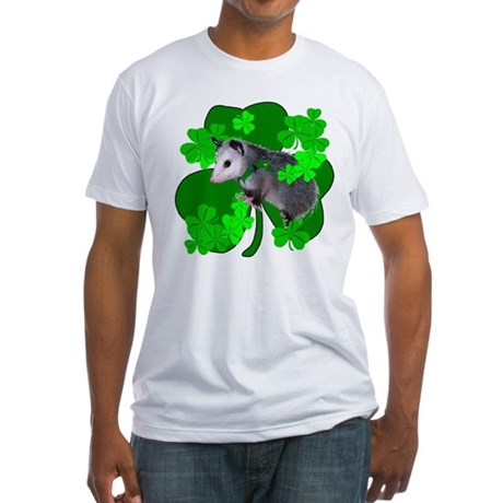 Lucky Irish Possum Fitted T-Shirt