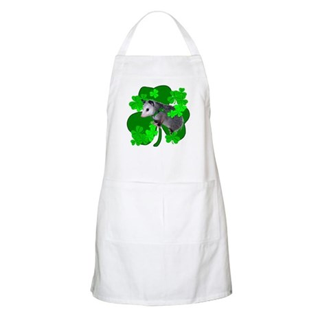 Lucky Irish Possum BBQ Apron