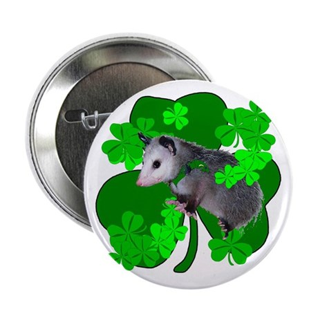 "Lucky Irish Possum 2.25"" Button"