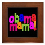 Obama Mama Framed Tile