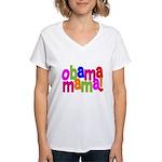 Obama Mama Women's V-Neck T-Shirt