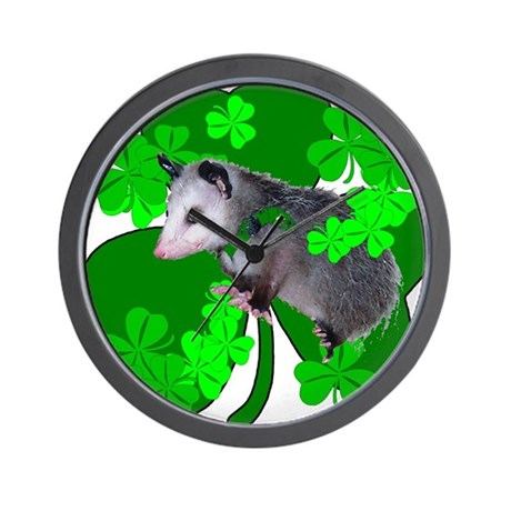 Lucky Irish Possum Wall Clock