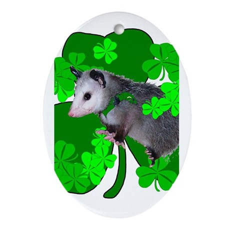 Lucky Irish Possum Oval Ornament